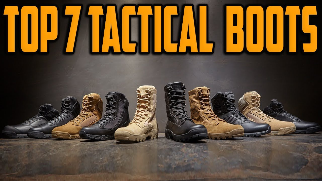 Best Tactical Boots 2021 - Top 7 Most Comfortable Tactical Boots For Combat, Military & Hunting
