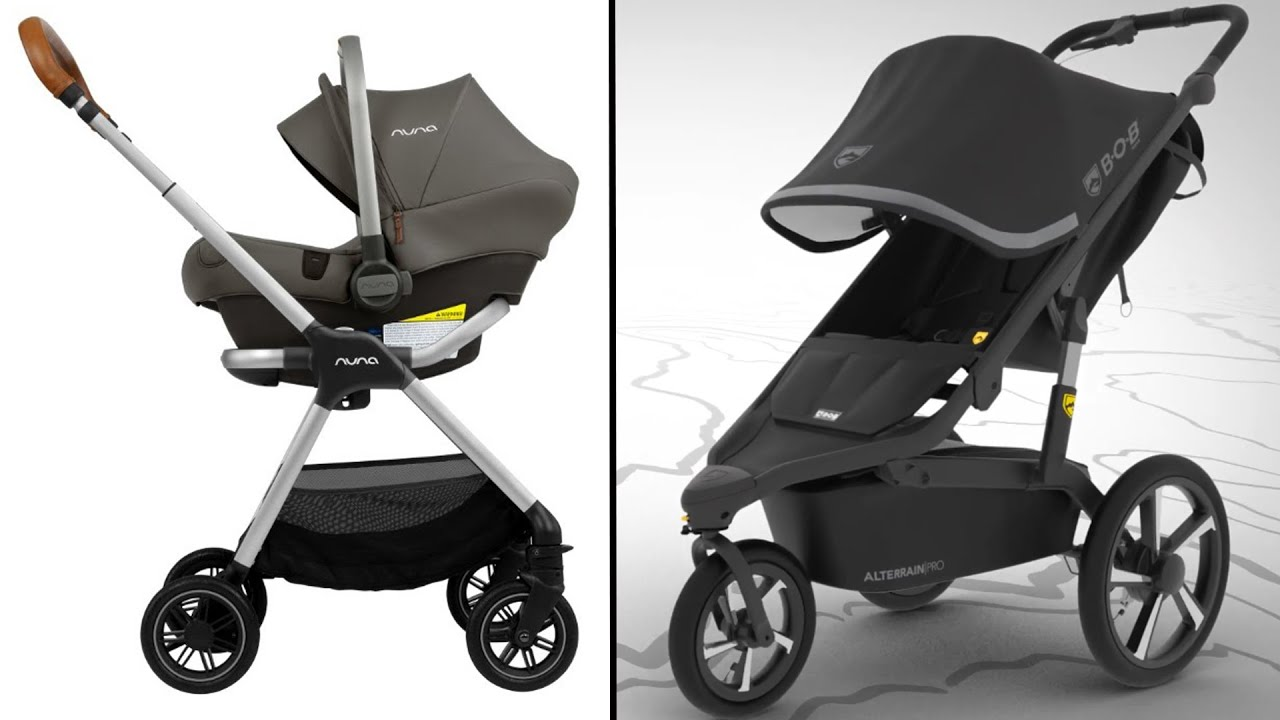 Best Baby Stroller 2021 Travel Strollers,4 Modes For Newborn, Large expandable canopy sun protection