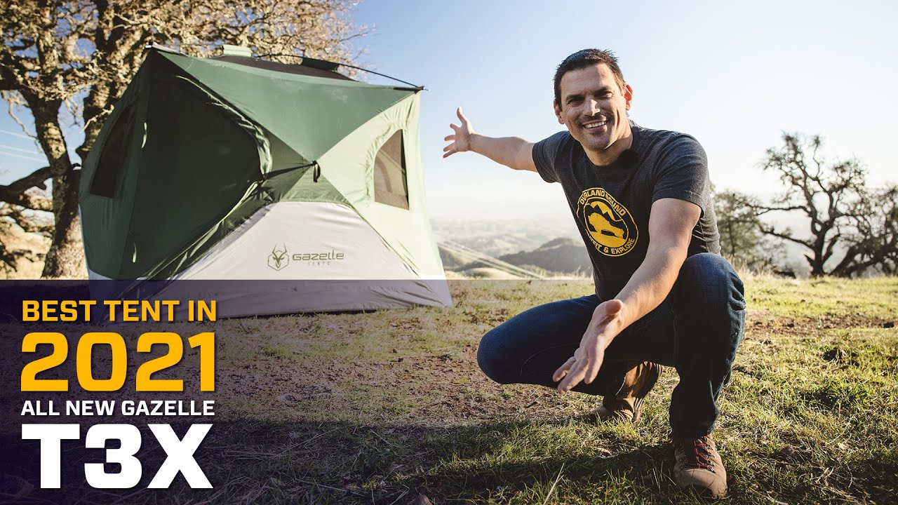 The BEST TENT in 2021 - all NEW Gazelle T3X Hub Tent!